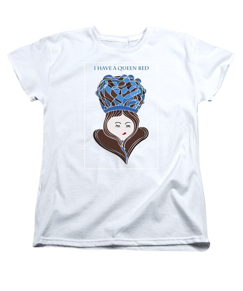Women's T-Shirt (Standard Cut) featuring the drawing I Have A Queen Bed by Frank Tschakert