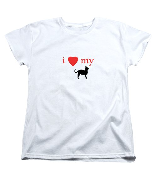 I Heart My Cat Women's T-Shirt (Standard Cut) by Bill Owen