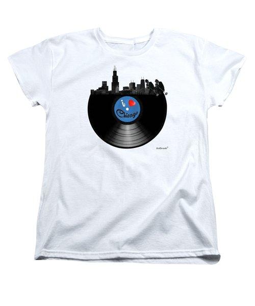 I Love Chicago Women's T-Shirt (Standard Cut) by Glenn Holbrook