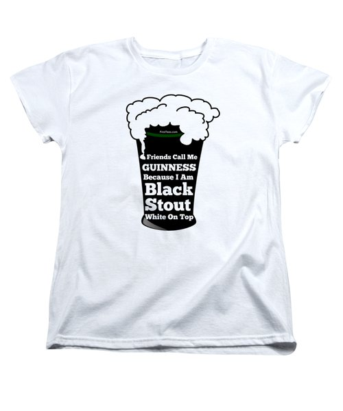 I Love Guinness  Women's T-Shirt (Standard Cut) by FirstTees Motivational Artwork