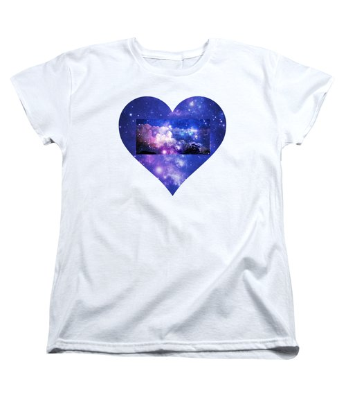 Women's T-Shirt (Standard Cut) featuring the photograph I Love The Night Sky by Leanne Seymour