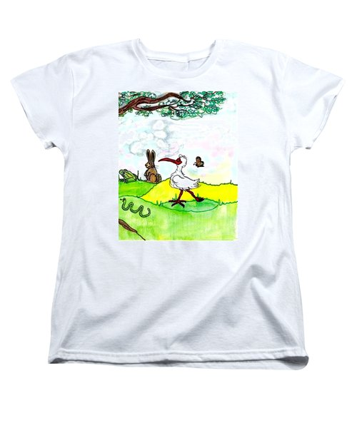 Ibis And Friends Listening Women's T-Shirt (Standard Cut)