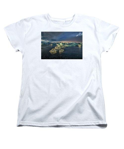Ice Chunks Women's T-Shirt (Standard Cut) by Allen Biedrzycki