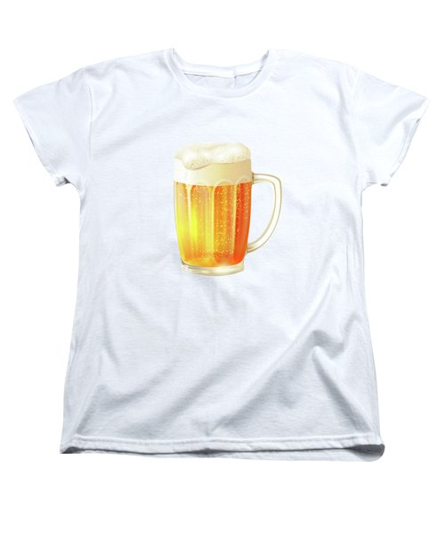Ice Cold Beer Pattern Women's T-Shirt (Standard Cut) by Little Bunny Sunshine