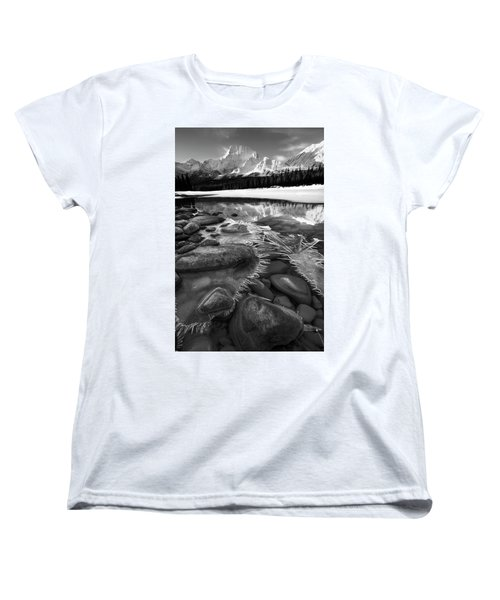 Ice On The Athabasca Women's T-Shirt (Standard Cut) by Dan Jurak
