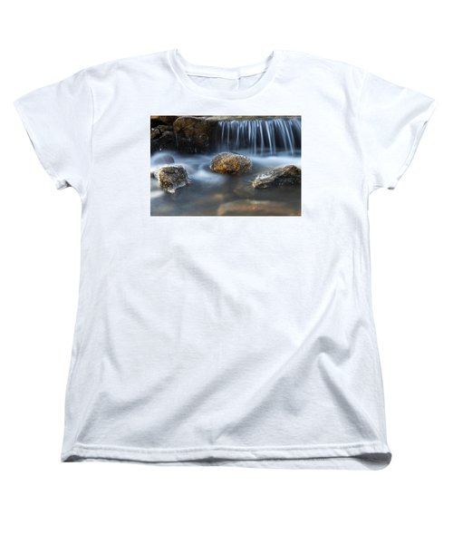 Icy Rocks On The Coxing Kill #1 Women's T-Shirt (Standard Cut) by Jeff Severson
