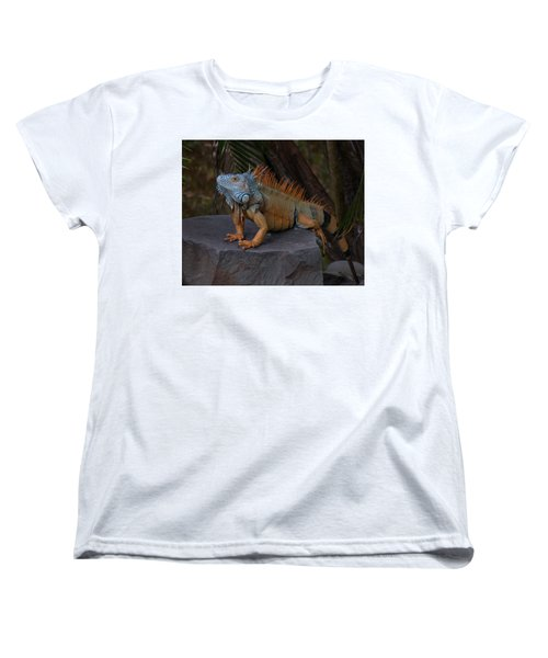 Women's T-Shirt (Standard Cut) featuring the photograph Iguana 2 by Jim Walls PhotoArtist