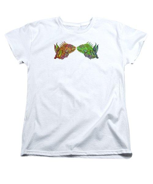 Iguana Love Women's T-Shirt (Standard Cut) by Carol Cavalaris