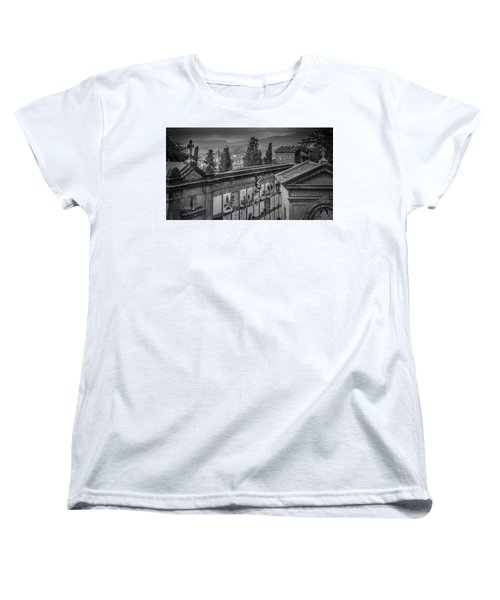 Women's T-Shirt (Standard Cut) featuring the photograph Il Cimitero E Il Duomo by Sonny Marcyan