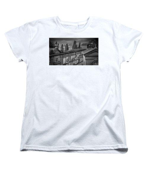Il Cimitero E Il Duomo Women's T-Shirt (Standard Cut) by Sonny Marcyan