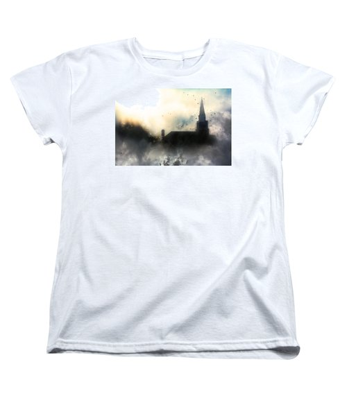Women's T-Shirt (Standard Cut) featuring the painting I'll Fly Away by Gray  Artus