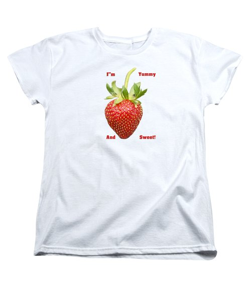Im Yummy And Sweet Women's T-Shirt (Standard Cut) by Thomas Young