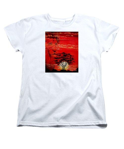 In An Arfican Sunset Women's T-Shirt (Standard Cut) by Ruanna Sion Shadd a'Dann'l Yoder