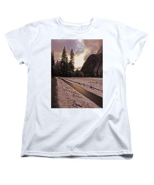 In Between Snow Falls Women's T-Shirt (Standard Cut) by Walter Fahmy