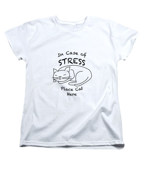 In Case Of Stress, Place Cat Here T-shirt Women's T-Shirt (Standard Cut)