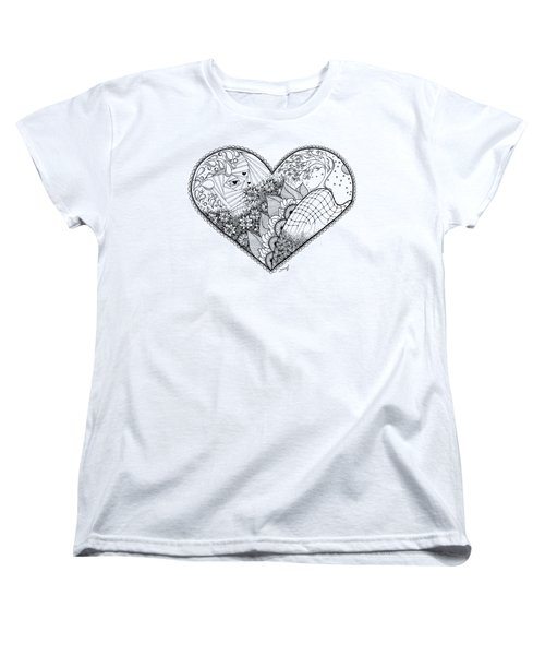 Women's T-Shirt (Standard Cut) featuring the drawing In Motion by Ana V Ramirez