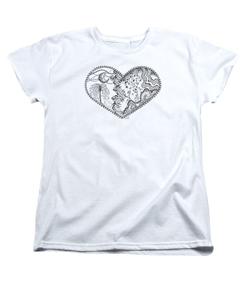 Women's T-Shirt (Standard Cut) featuring the drawing Repaired Heart by Ana V Ramirez
