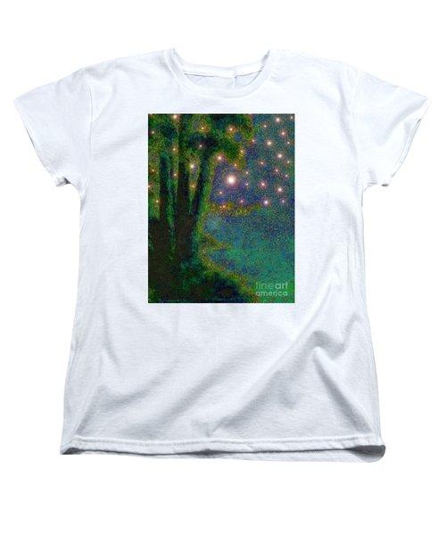 In The Beginning God... Women's T-Shirt (Standard Cut) by Hazel Holland