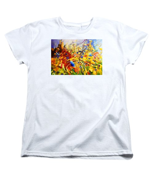 Women's T-Shirt (Standard Cut) featuring the painting In The Meadow by Georg Douglas