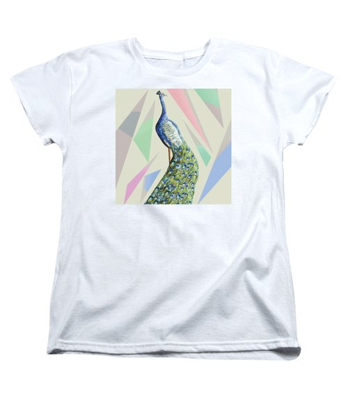 In The Month Of June The Peacock Danced A Women's T-Shirt (Standard Cut) by Thecla Correya