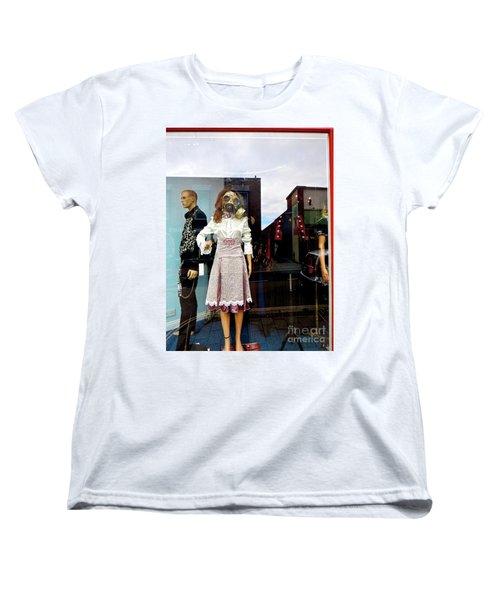 In The Window  Women's T-Shirt (Standard Cut) by Gary Bridger