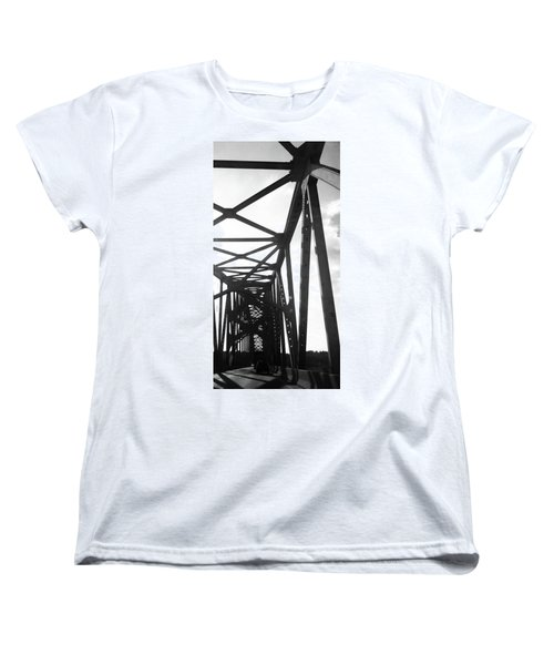 Women's T-Shirt (Standard Cut) featuring the photograph Indefinite Sight Bw by Jamie Lynn