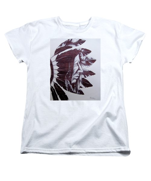 Indian Feathers Women's T-Shirt (Standard Cut) by Michael  TMAD Finney