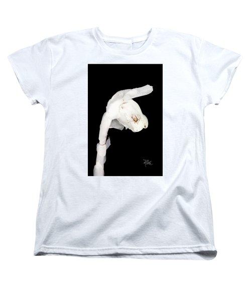 Women's T-Shirt (Standard Cut) featuring the photograph Indian Pipe Head by Meta Gatschenberger