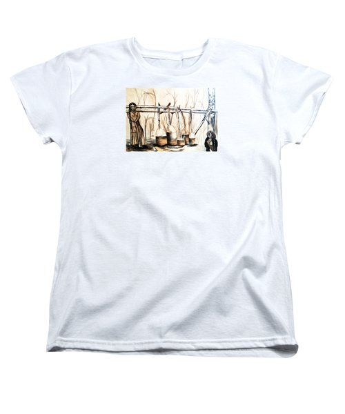 Indians Making Maple Sugar. Cass Lake. 1905  Women's T-Shirt (Standard Cut) by Ayasha Loya