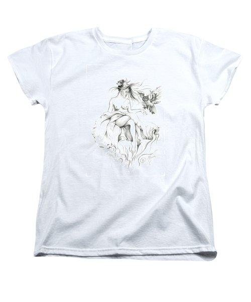 Inhabitants Of The Sky Realm Women's T-Shirt (Standard Cut) by Anna Ewa Miarczynska