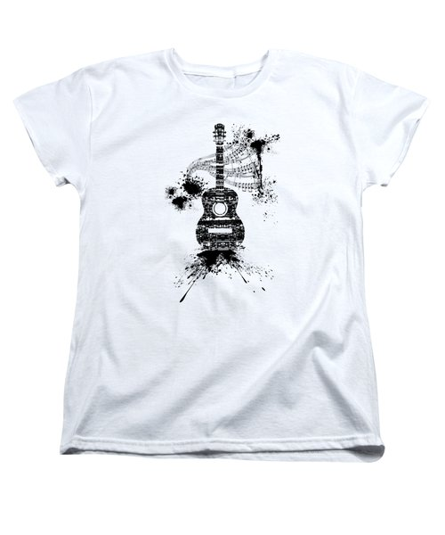 Inked Guitar Transparent Background Women's T-Shirt (Standard Cut) by Barbara St Jean