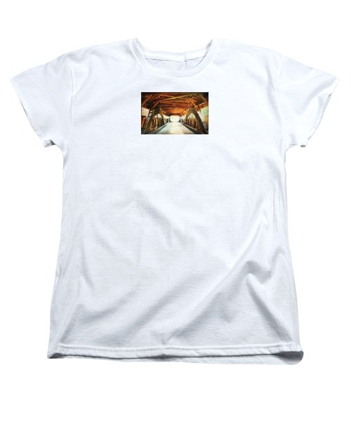 Inside A Covered Bridge Women's T-Shirt (Standard Cut) by Robin Regan