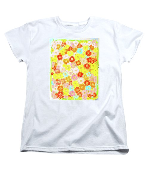 Women's T-Shirt (Standard Cut) featuring the painting Inspired By Persimmon by Lorna Maza