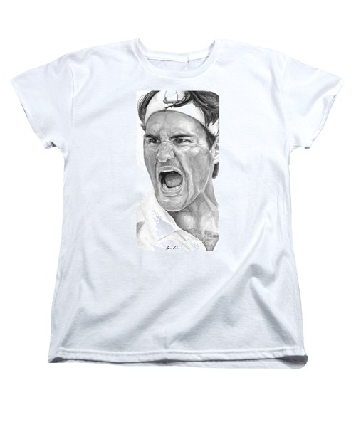 Intensity Federer Women's T-Shirt (Standard Cut) by Tamir Barkan