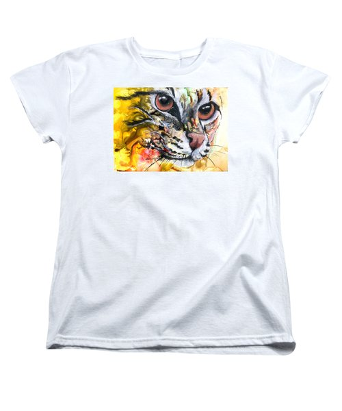 Women's T-Shirt (Standard Cut) featuring the painting Intensity by Sherry Shipley