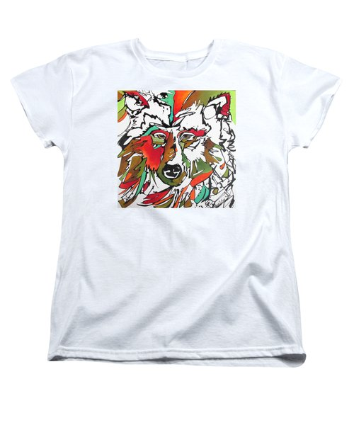 Women's T-Shirt (Standard Cut) featuring the painting Intent by Nicole Gaitan