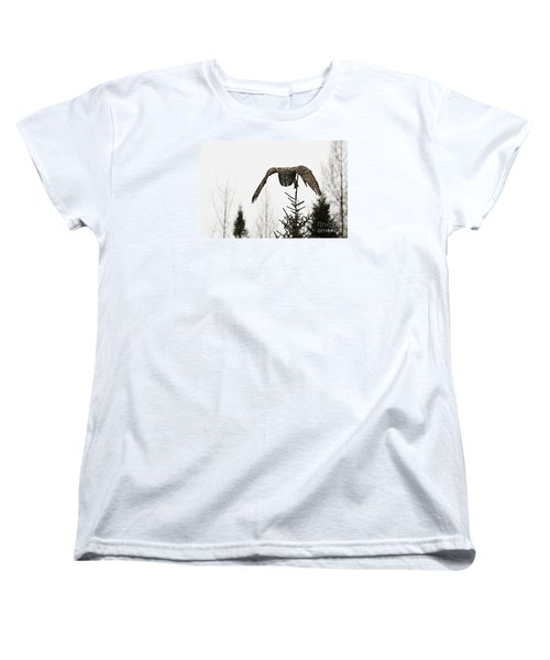 Women's T-Shirt (Standard Cut) featuring the photograph Intent On His Prey by Larry Ricker