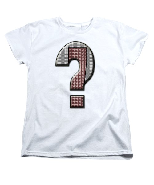 Interrobang 5 Women's T-Shirt (Standard Cut) by Brian Wallace