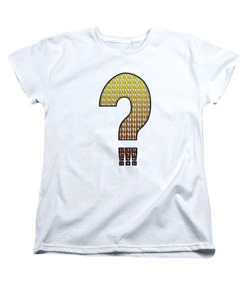 Interrobang Variation Women's T-Shirt (Standard Cut) by Brian Wallace