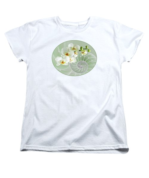 Intimate Fusion In Cool Green Women's T-Shirt (Standard Cut) by Gill Billington
