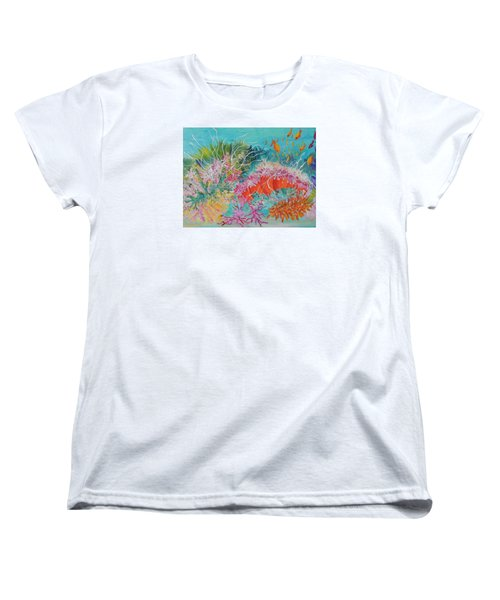 Women's T-Shirt (Standard Cut) featuring the painting Feeding Time # 3 by Lyn Olsen