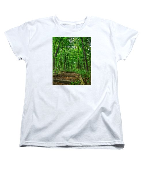 Women's T-Shirt (Standard Cut) featuring the photograph Into The Forest by Nikki McInnes