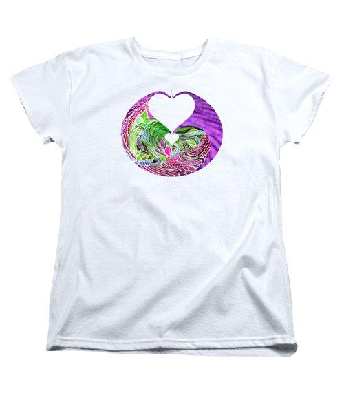 Invert Hearts Women's T-Shirt (Standard Cut) by Adria Trail