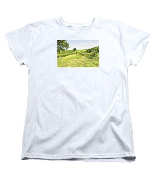 Iowa Corn Field Women's T-Shirt (Standard Cut)