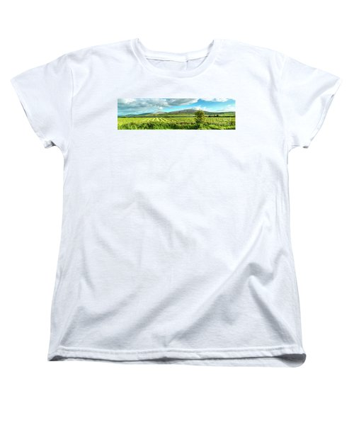 Ireland  - Burren Panorama Women's T-Shirt (Standard Cut) by Juergen Klust