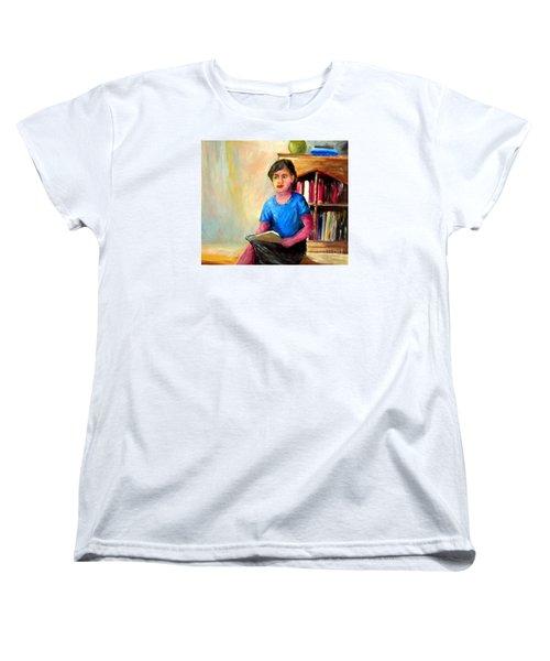 Women's T-Shirt (Standard Cut) featuring the painting Irene by Jason Sentuf