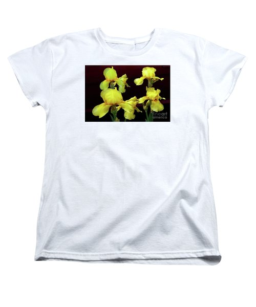 Women's T-Shirt (Standard Cut) featuring the photograph Irises Yellow by Jasna Dragun