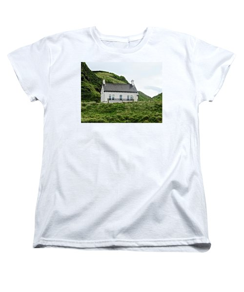 Irish Cottage Women's T-Shirt (Standard Cut) by Stephanie Moore