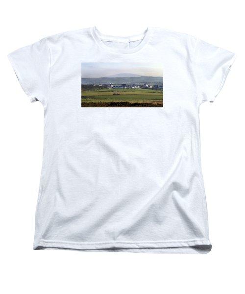 Irish Sheep Farm II Women's T-Shirt (Standard Cut) by Henri Irizarri