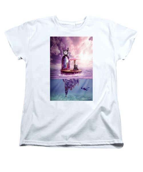 Women's T-Shirt (Standard Cut) featuring the digital art Island Dreaming by Nathan Wright
